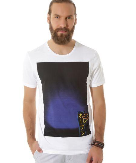 Camiseta com Estampa Branca