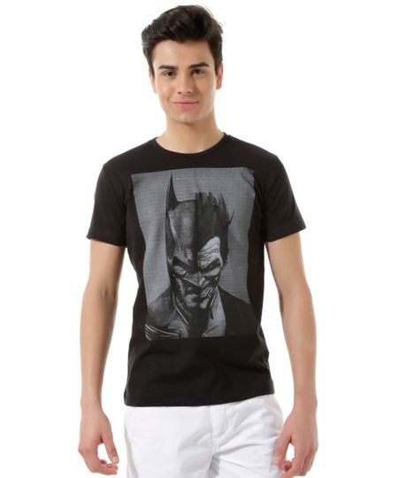 Camiseta Batman vs Coringa Preta
