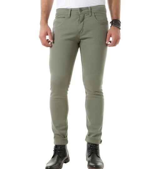 Calça Skinny Verde Militar