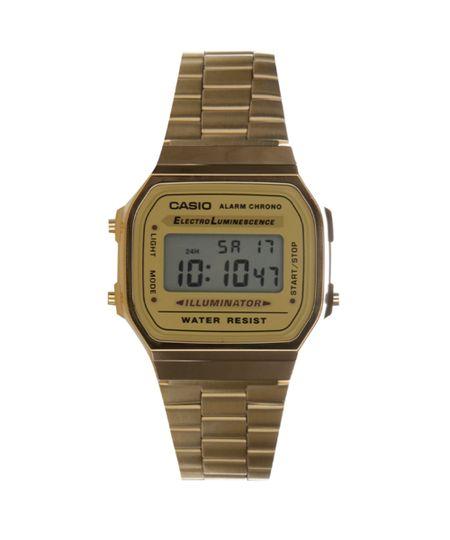 Relógio Digital Casio Feminino - A168WG9WDFU Dourado