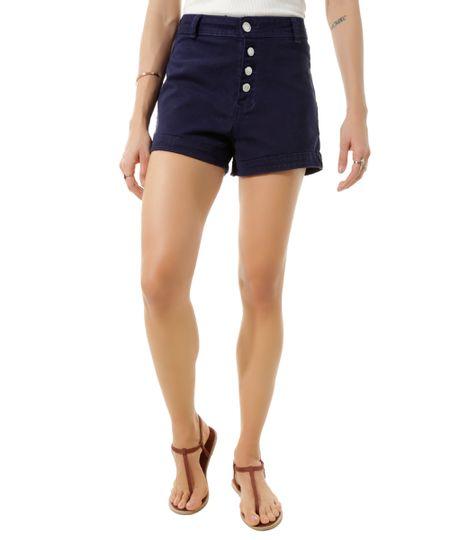 Short Hot Pant Azul Marinho