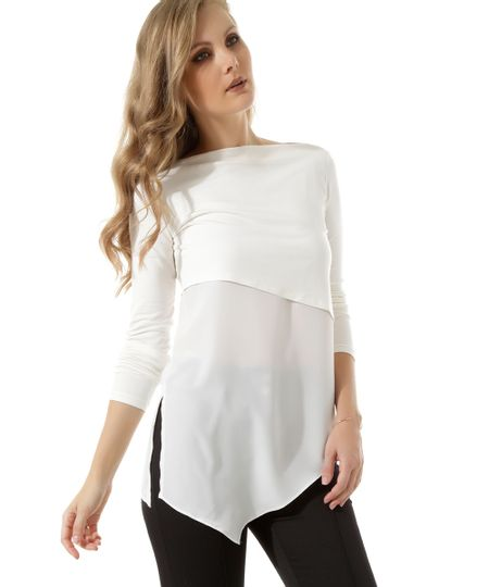 Blusa Assimétrica Off White