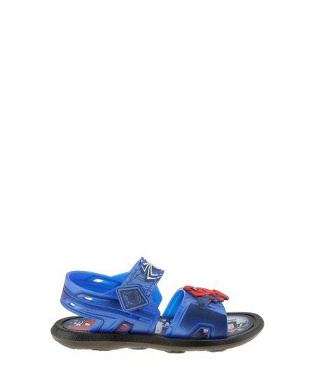 Sandália Papete Grendene Homem Aranha Azul