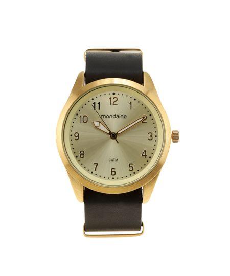 Relógio Analógico Mondaine Masculino - 76512LPMVDH1 Dourado