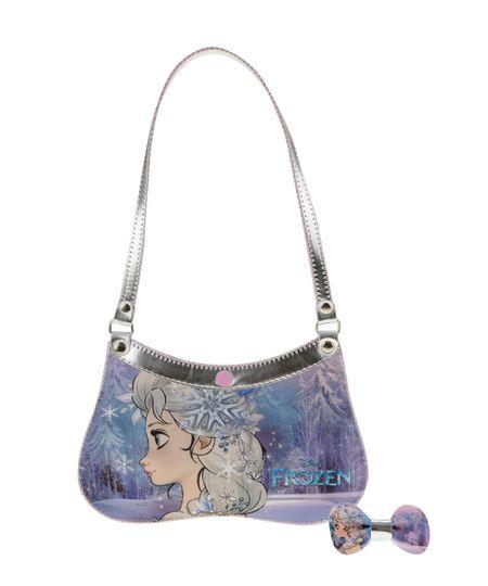 Bolsa Frozen com Elástico de Cabelo Lilás
