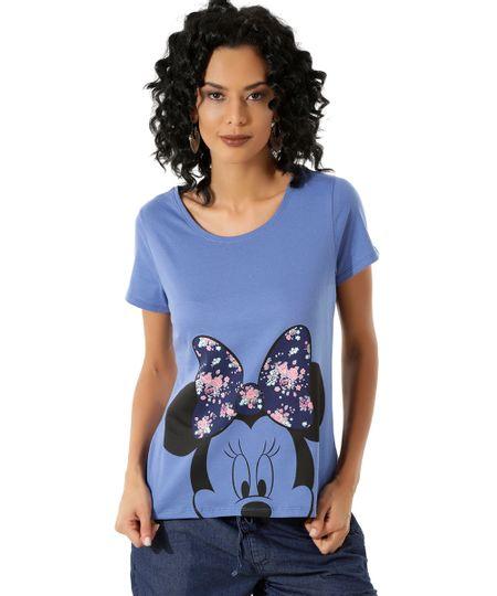 Blusa Minnie Azul