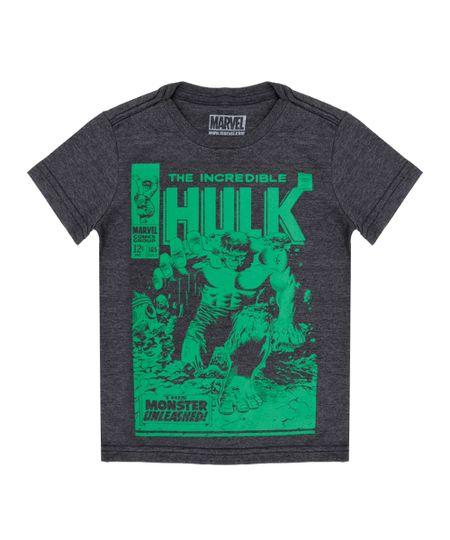 Camiseta Hulk Cinza Mescla