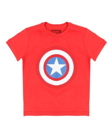 Camiseta Capitão América Vermelha