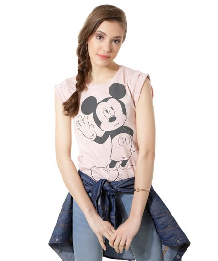 Blusa Mickey Rosa
