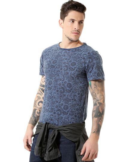 Camiseta Paisley Azul