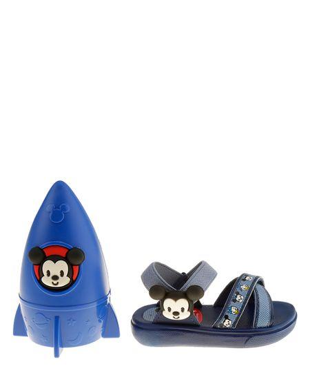 Sandália Grendene Mickey com Chuveirinho Azul Marinho