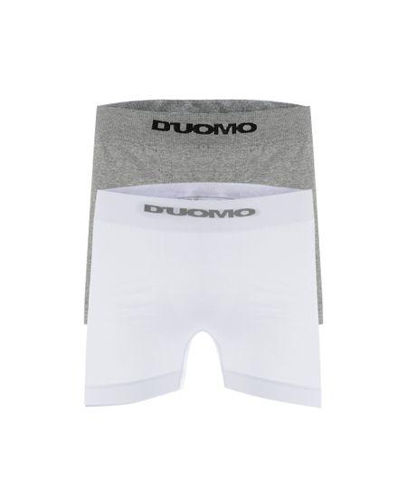Kit de 2 Cuecas Boxer Duomo Sem Costura Multicor