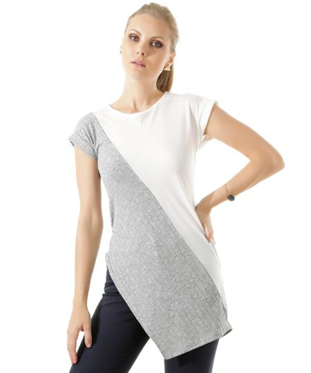 Blusa Assimétrica Branca