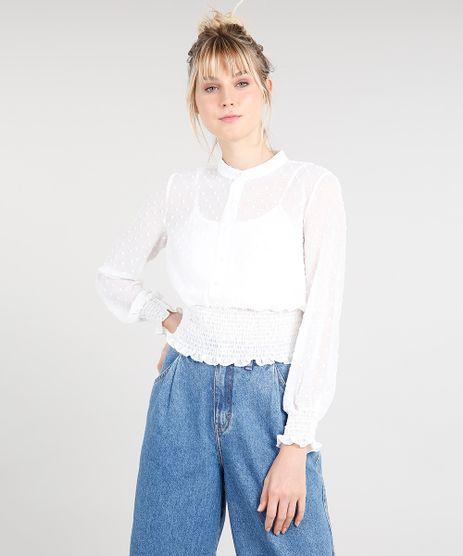 c7a3f2846e Blusas De Tecido Feminina em promoção - Compre Online - Melhores ...