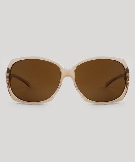 Óculos de Sol Quadrado Feminino Oneself Transparente - Único 1b0359d115
