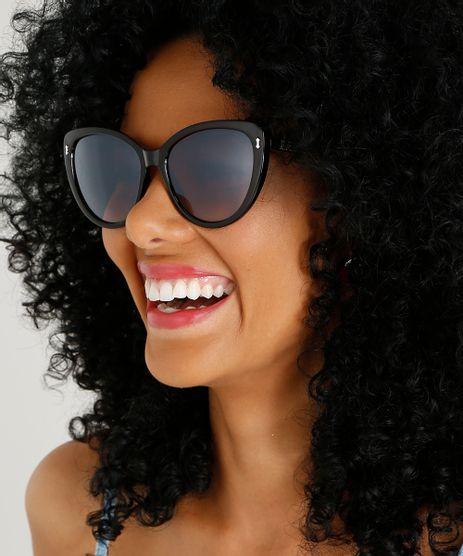 Óculos de Sol Redondo Feminino Oneself Marrom - Único 8ecf78604e