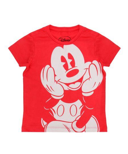 Camiseta Mickey Vermelha