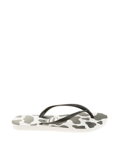 Chinelo Havaianas Animal Print Branco