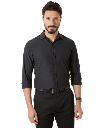 Camisa Social Slim Preta