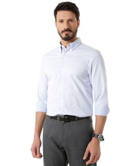Camisa Social Slim  Azul Claro