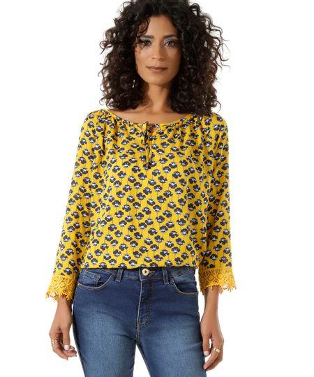 Blusa Floral Amarela