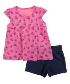 Conjunto-de-Blusa-Rosa---Short-Minnie-Azul-Marinho-8428310-Azul_Marinho_1