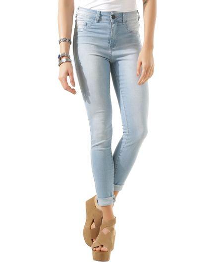 Calça Super Skinny Energy Jeans Azul Claro