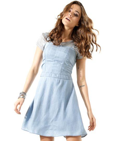Vestido Jeans Azul Claro