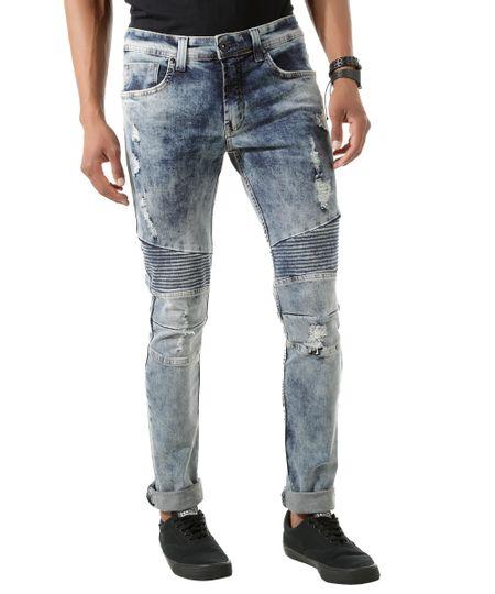 Calça Jeans Skinny Azul Claro