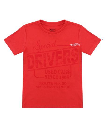 Camiseta Hot Wheels Vermelha
