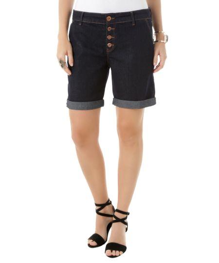 Bermuda Jeans Comfort Azul Escuro