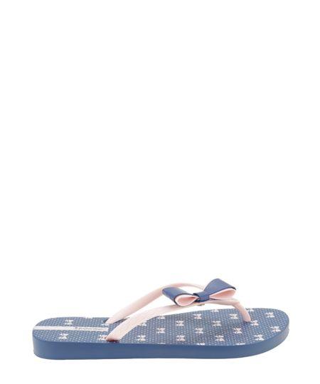 Chinelo Ipanema com Laço Azul Marinho