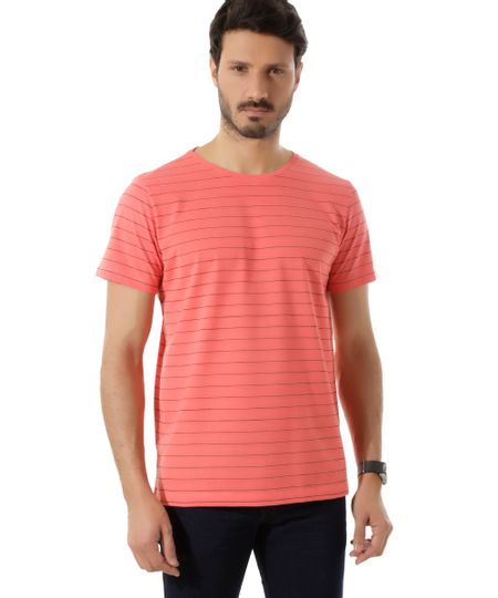 Camiseta Listrada Coral