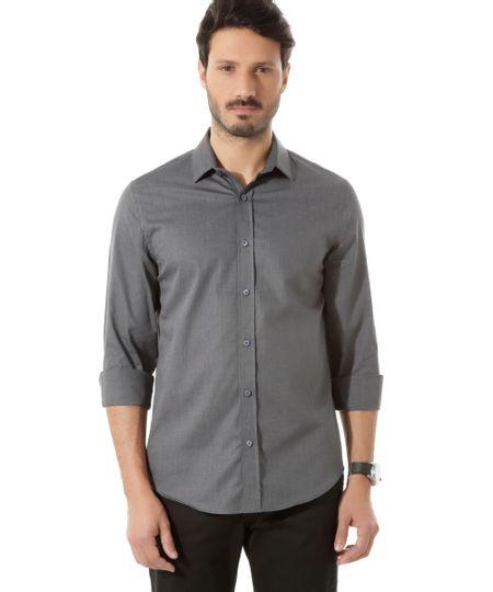 Camisa Social Slim Cinza Escuro