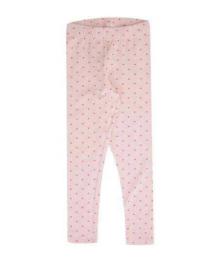 Calça Legging Estampada de Poás Rosa Claro