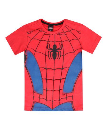 Camiseta Homem Aranha Vermelha