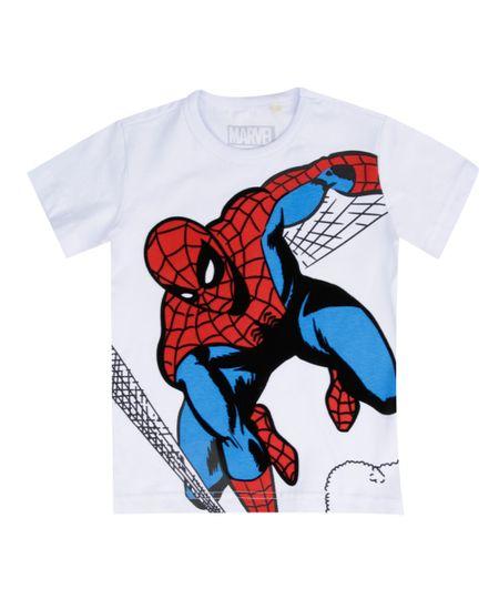 Camiseta Homem Aranha Branca