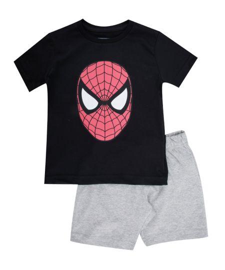 Pijama Homem Aranha Preto