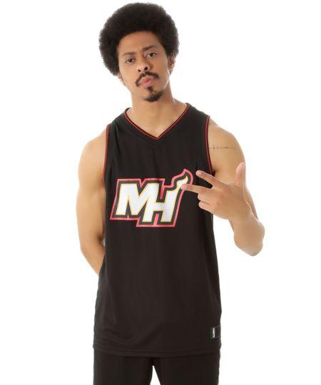 Regata Miami Heat NBA Preta
