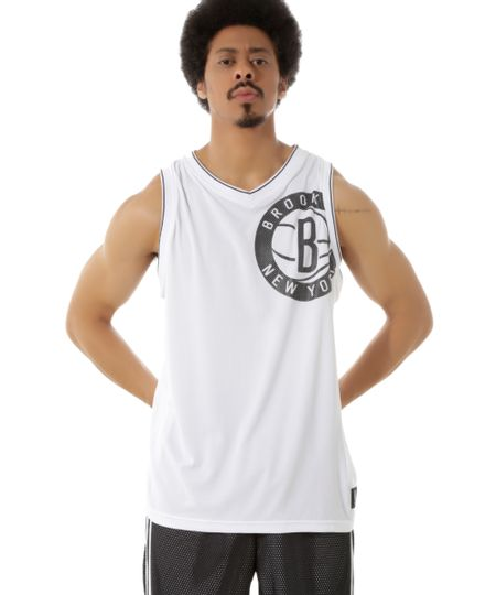 Regata Brooklyn Nets NBA Branca