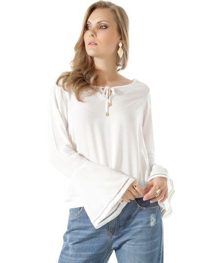 Blusa Texturizada Off White