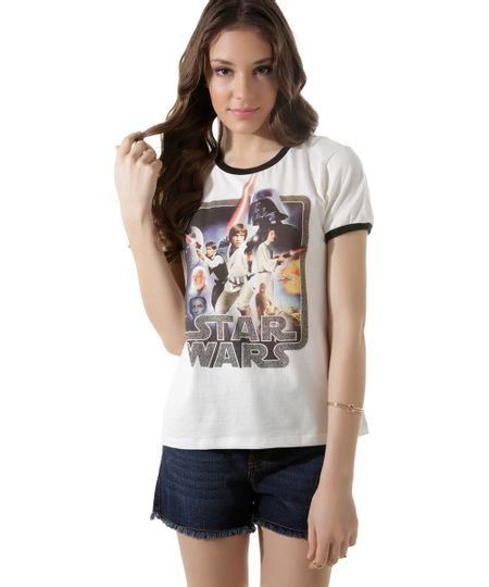 Blusa Star Wars Off White
