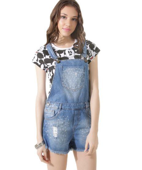 Macacao jardineira jeans feminino c a for Jardineira jeans infantil c a