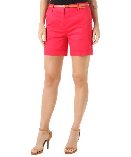 Short com Cinto Pink