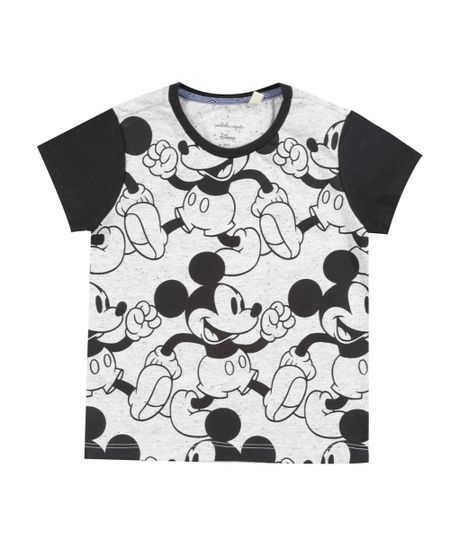 Camiseta Botonê Isabela Capeto & Disney Cinza Mescla