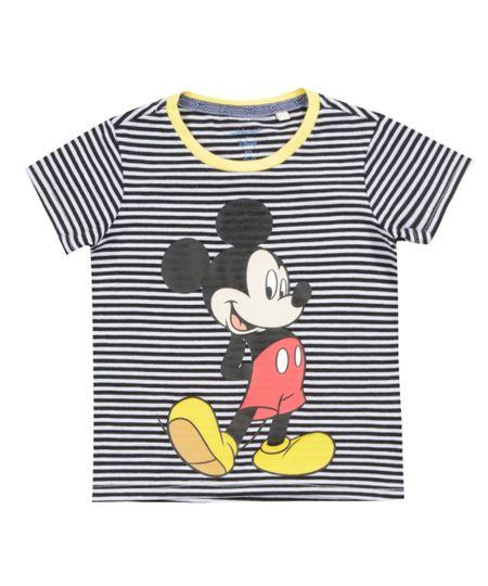 Camiseta Listrada Isabela Capeto & Disney Preta