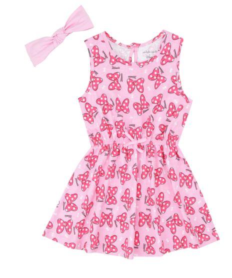 Vestido-Estampado---Faixa-de-Cabelo-Isabela-Capeto---Disney-Rosa-8401338-Rosa_1