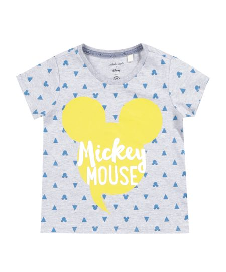 Camiseta Estampada Isabela Capeto & Disney Cinza Mescla