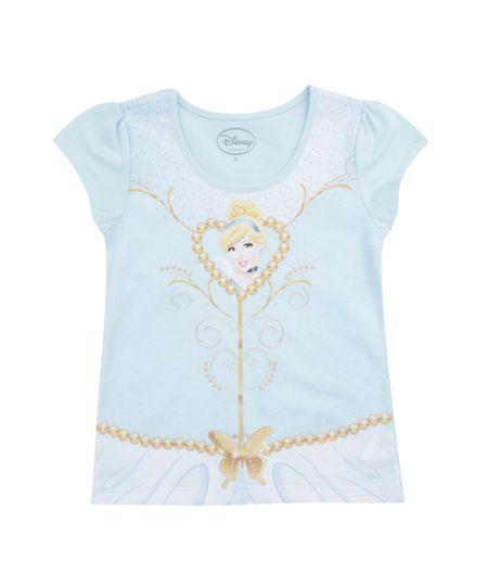 Blusa Cinderela Azul Claro