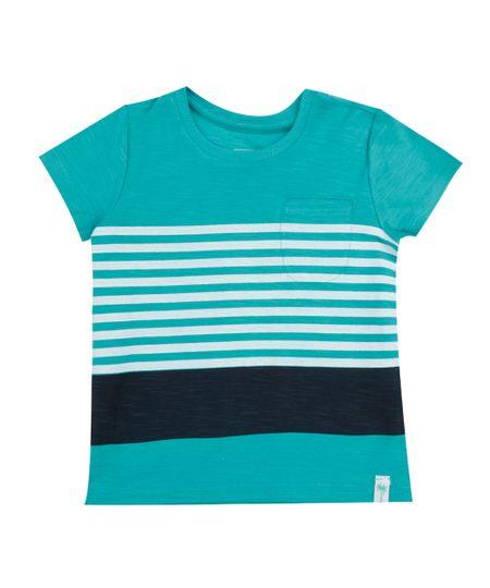 Camiseta Flamê com Listras Verde